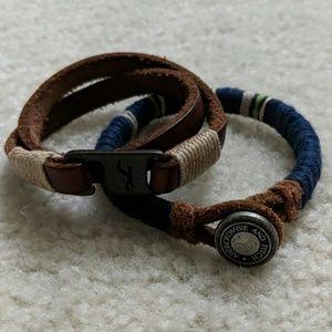 Jewelry - BUNDLE - Wrap Bracelet and Leather/Thread Bracelet
